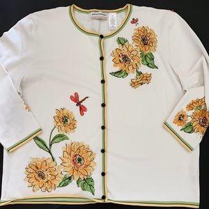 Alfred Dunner Women's 1X Cardigan Sweater Summer